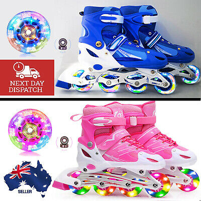 Adjustable Full LED Rollerblades Inline Skates Blades Girl Boy Roller Shoes Kids