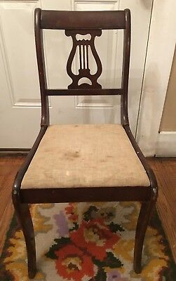 Tell City Chair Co. Vintage Lyre Harp Back Wood Side Chair/s (2) Available
