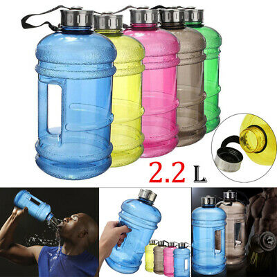 Creative Dumbbell Shaped Gym Bottle Sport Water Cup Kettle Fitness Drink 2.2L DD
