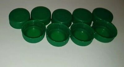 Plastic Water Bottle Caps Green Dasani Arts And Craft Supplies (pack of 50)