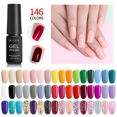 146Colors 7ml UV Gel Nail Polish Soak Off UV/LED Gel Nails  DIY LILYCUTE Tools