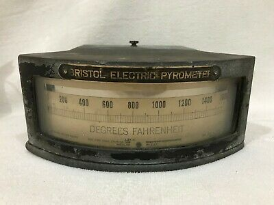 Vintage BRISTOL Electric Pyrometer Removed from Jeanette Glass Factory