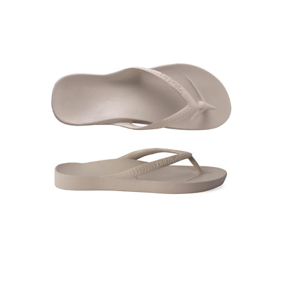 Womens Archies High Arch Support Thongs Taupe Sandal Flip Flop