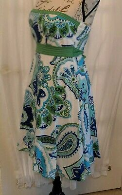 4ed155f21fc Dillards SEQUIN HEARTS Women s Juniors Size 7 strapless SUNDRESS Dress  green mul