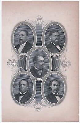 RARE Engraved portrait Black African-American Reconstruction Congress print 1883