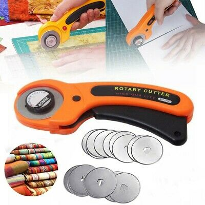 45mm Rotary Cutter Premium Quilters Quilting Sewing Fabric Cutting Craft Tool