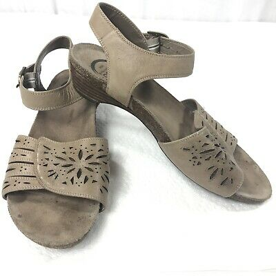 b0a90710f6f Abeo Bio System Slingback Sandals Brown Leather Womens Size 9 N Narrow