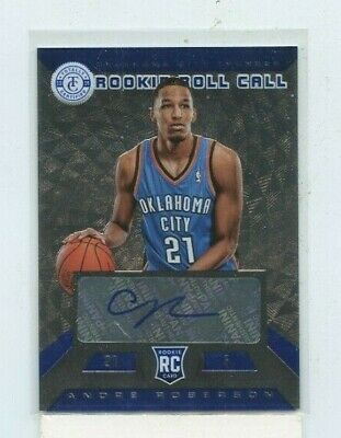 ANDRE ROBERSON 2013-14 Totally Certified Rookie Roll Call Silver Rookie Auto /49