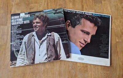 Bobby Vinton Vinyl Record LP Lot All-Time Greatest Hits There I've Said It Again