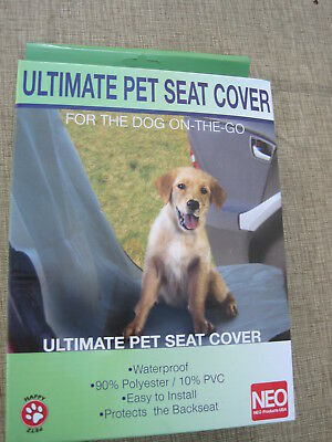 Ultimate Pet Car Seat Cover Neo Products. Waterproof. Dog travel protector back
