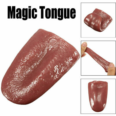 Tongue Trick Prank Magic Horrible Tongue Fake Tounge Realistic Elasticity Toys
