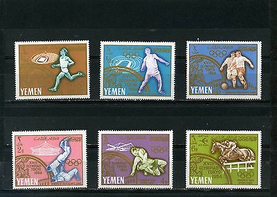 YEMEN KINGDOM 1965 Mi#196-201A SUMMER OLYMPIC GAMES TOKYO SET OF 6 STAMPS MNH