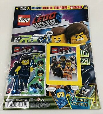 LEGO THE LEGO MOVIE 2 Magazine #2 With LEGO Toy + STICKER PACK! (SPECIAL ED