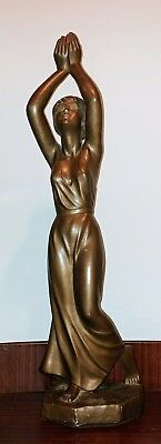Antiques Antique Vintage Austin Prod Inc 1968 Woman Lady Girl Hands Up Sculpture The Latest Fashion Other Antique Decorative Arts