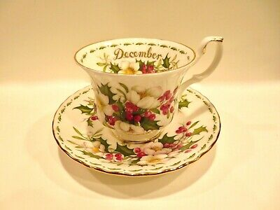 Royal Albert Bone China Flower of The Month DECEMBER Christmas Rose ENGLAND