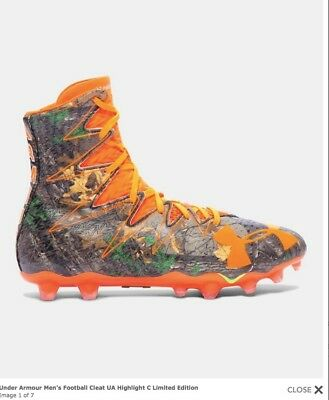 51bf373ac758 Limited Ed. Under Armour Highlight MC Realtree Camo Football Cleat 1275479  sz 16