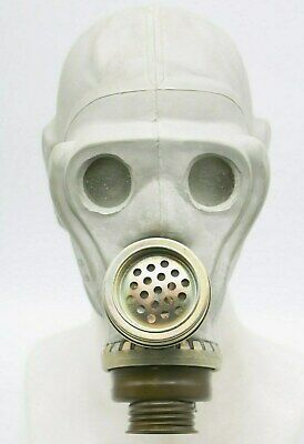 ShMS Authentic Soviet Russian MASK grey DIRTY Genuine Vintage USSR GAS MASK