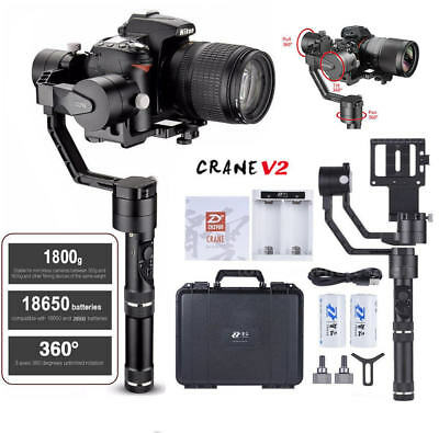(NEW) ZHIYUN Crane V2 3-Axis Handheld Stabilizer Gimbal Carry up to 3.96lb