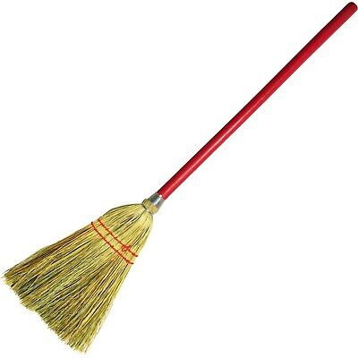 Parlor corridor Lobby Broom, Yucca/Corn Fiber Bristles, Wood Handle, Natural
