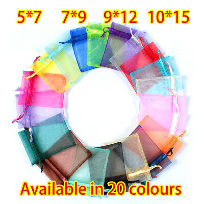 LUXURY Organza Gift Bags Jewellery Pouch XMAS Wedding Party Candy Favour UK