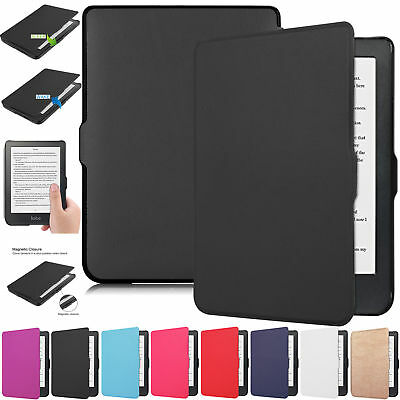 2018 Auto Wake/Sleep Smart eReader Magnetic Leather Case Cover For Kobo Clara HD