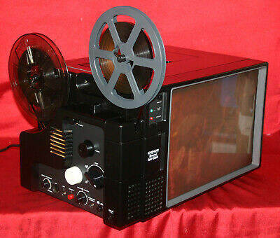 Super 8Mm Sound Movie Projector, Chinon Ds-300,  Daylight Screen. Serviced  A1,