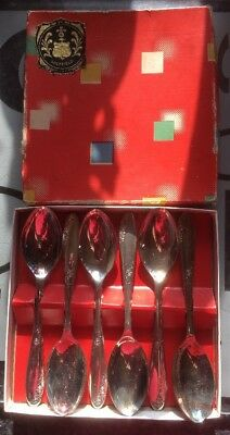 Silver Plated Teaspoons In Box 6 Sheffield