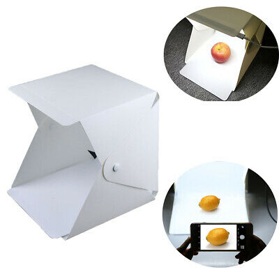 Room Photo Studio Photography Lighting Double LED Light Tent Backdrop Cube Box