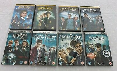 Harry Potter DVD's Complete Series 1-8 R2 PAL WATCHED ONCE