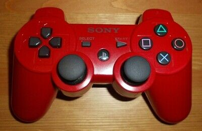 Sony Playstation Ps3 Red Wireless Controller Cechzc2E In Vgwc + Free Uk Post