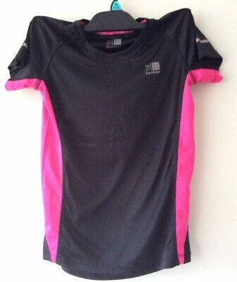 Karrimor black/pink run top age 13 years