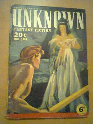 Unknown March 1940 Rare Sf Fantasy Fiction Uk Edition - Sturgeon Wandrei Isip