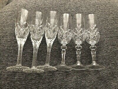 Royal Scott - Set Of 6 Crystal Glasses (Wine, Champagne)