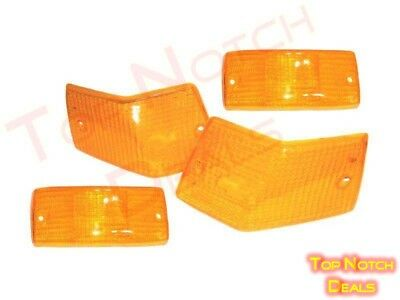Front & Rear Indicator, Blinker Orange Lens Set Of 4 Pcs For Vespa, LML Models
