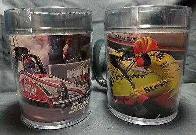 Lot of 2 SNAP-ON TOOLS Motorsports Celebrities Edition Mugs / Coffee Cups