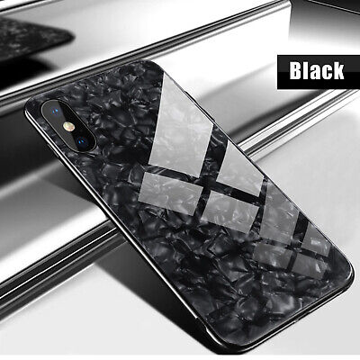 Luxury Marble Tempered Glass Case Cover For Apple iPhone X XS XR Max 10 8 7 Plus