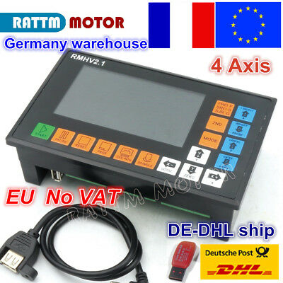 【FR】4 Axis 500KHz PLC Offline G Code Motion Controller System Linkage CNC Router