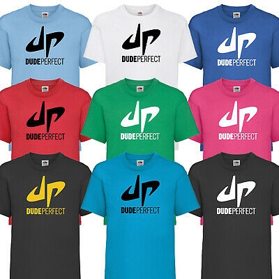 Dude Perfect Logo Text Youtuber Inspired Kids Boys Girls Youtube Childs TShirt