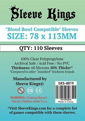 Sleeve Kings Blood Bowl compatible sleeves size 78x113mm