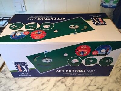 PGA Tour Auto Putt Returner with guideball and 6ft putting mat JOBLOT