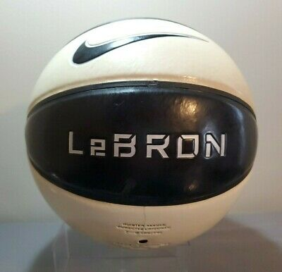 4b2f2fbda0e5 NIKE LEBRON JAMES Official Playground Basketball Black Gold Size 7 ...