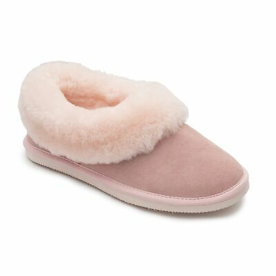 fa15340fcf3 Padders CUDDLE Ladies Sheepskin Extra Wide (2E) Comfortable Warm Slippers  Pink