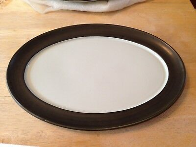 "Denby-Langley England Camelot 12.5"" Oval Platter Dark Green (Older) 1964-1990"