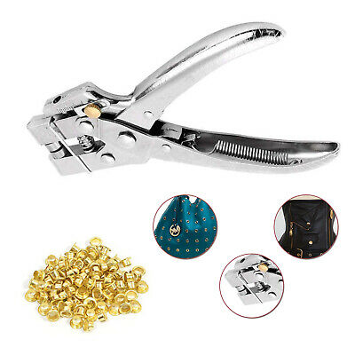 100pcs 4mm Eyelets with Setting Plier Tool Crafts Shoes Bag Crafts Clothing DIY