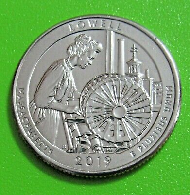 2019-P 25C Lowell Massachusetts National Parks America the Beautiful Quarter