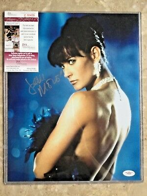 Sexy Demi Moore Autographed 11X14 Photo With Jsa Authenticity Card & Sticker
