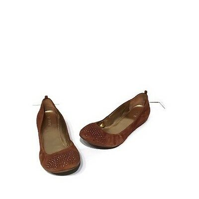063cd27fb197 J Crew Womens Brown Studded Ballet Flats Sz 8.5 Suede Leather Shoes Retail  $128