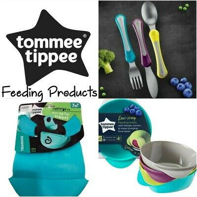 Tommee Tippee Baby Toddler Feeding Products Roll n Go Bib Scoop Bowls Cutlery