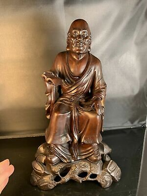OKIMONO.Rare Chinese / Japanese.  Antique Hardwood Carved  with stand No.1