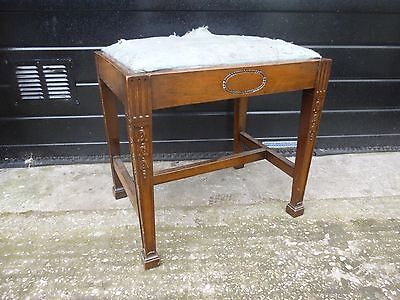 Antique Oak Piano Stool